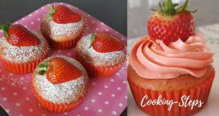 Strawberry Cup Cake Recipe